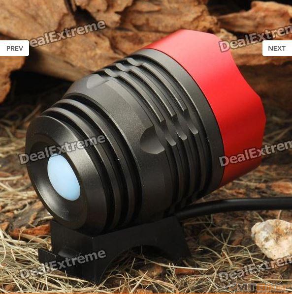 T6 XML-T6 3-Mode 1200-Lumen White LED Bike Light with Battery Pack Set.JPG